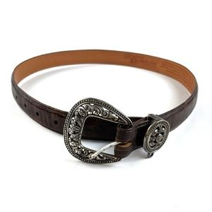 Brighton Museum Collection Leather Belt Med